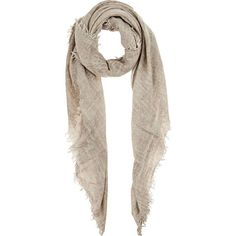 Zadig et Voltaire Women's Anael Hand-Dyed Wool-Silk Scarf (545 RON) ❤ liked on Polyvore featuring accessories, scarves, woolen shawl, pure silk scarves, square scarves, logo scarves and silk scarves