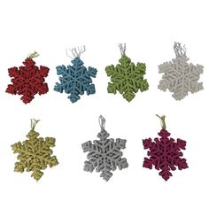 Holiday Glitter Flake Ornament 3ct Assorted
