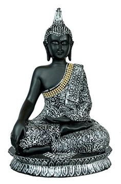 Antique Meditating Lord Buddha Resin Idol Sculpture Statue with Zircons - 11 Inches Krishna Mart India http://www.amazon.com/dp/B00YXTVAEO/ref=cm_sw_r_pi_dp_7gOEvb01MXQ5F