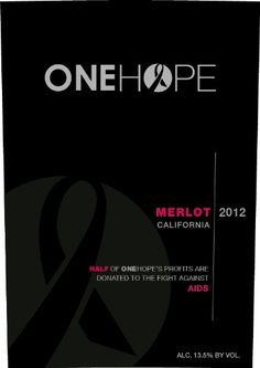 awesome Merlot | 2012 ONEHOPE California Merlot 750 mL