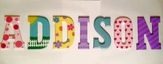 Dollhouse Custom Hand Painted Letters