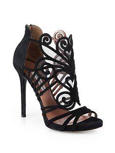 Tabitha Simmons - Aura Suede & Mesh Platform Sandals