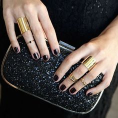 bc224fa8b94d Gold RIngs  15 Chic Ways To Match Them To Your Manicure