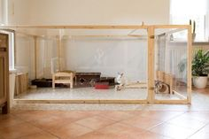 Buy The Right Size Guinea Pig Cage. Photo by maskarade Purchasing a guinea pig cage in a pet shop is unfortunately a good way to ensure that it is in fact too small for your pet's needs. Indoor Rabbit House, Indoor Rabbit Cage, House Rabbit, Indoor Guinea Pig Cage, Rabbit Hutch Indoor, Bunny Cages, Rabbit Cages, Rabbit Toys, Rabbit Pen