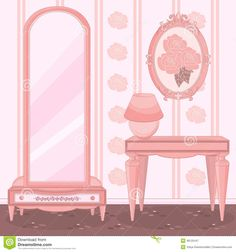 elegant-dressing-room-princess-pink-48125447.jpg (1300×1390)