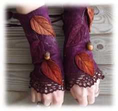 Forest Cuffs Faerie Cuffs Vintage lace cuffs by folkowl on Etsy Traditional Japanese Tattoos, Boho Life, Lace Cuffs, Steampunk Costume, Stuff And Thangs, Wrist Warmers, Hip Bag, Hippie Outfits, Fabric Jewelry
