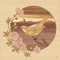 Bird and Bee - Marquetry by *amazoncanvas on deviantART