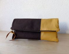 brown canvas + beige leather