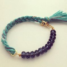 Yarn and Glass Bead Bracelet #handmadebracelet #beadsbracelet #pandahall  PandaHall Promotion: use coupon code MayPINEN10OFF for 10% off for your orders, valid time from May 18 to May 31.