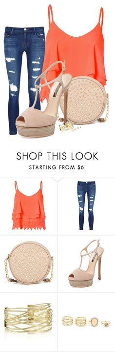"""""""Untitled #440"""" by daaaiu ❤ liked on Polyvore featuring Glamorous, J Brand, Neiman Marcus, Casadei and LULUS"""