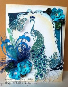 Peacock Bling by JennyAlia - Cards and Paper Crafts at Splitcoaststampers
