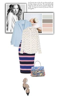 """Striped skirt"" by bliznec-anna ❤ liked on Polyvore featuring Acne Studios, Topshop, Paul & Joe, Valentino, women's clothing, women, female, woman, misses and juniors"