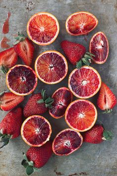 Blood Oranges and Strawberries