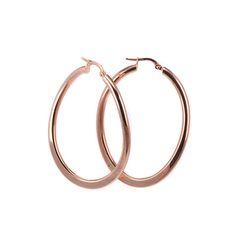 Σκουλαρίκια κρίκοι ροζ  χρυσό Κ14 -7230 Other Outfits, Bangles, Bracelets, Cute Jewelry, Piercing, Rose Gold, Jewels, Earrings, Ear Rings