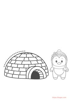 Best Igloo and Penguin Coloring Page For Kids Christmas Unicorn, Unicorn Halloween, Halloween Books, Coloring Apps, Coloring Pages For Kids, Adult Coloring, Penguin Coloring Pages, Penguin Cartoon, Instagram Logo