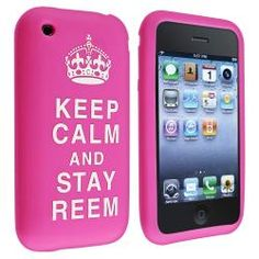 @Overstock - This is a pink with -Keep Calm and Stay Reem- quote silicone skin case for Apple iPhone 3G/ 3GS. Protect your cell phone against bumps and scratches with this accessory.http://www.overstock.com/Electronics/Pink-with-Keep-Calm-and-Stay-Reem-Skin-Case-for-Apple-iPhone-3G-3GS/6633398/product.html?CID=214117 $4.99