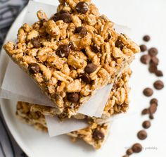 Kamut Coconut Almond Butter Chip Bars. (Chocolate .. or Carob!)