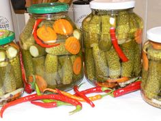 Romanian Food, Romanian Recipes, Pickling Cucumbers, Tomato Vegetable, Preserves, Pickles, Vegan, Canning, Vegetables
