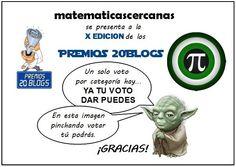 Vota a matematicascercanas en la X Edición de los Premios 20Blogs