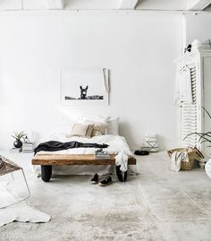 Whitewashed spaces always feel more open, so layering white textures in a room is a great way to give it a more expansive, loft-inspired appeal. These days, a cool, minimal space is pretty much as...