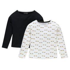 Junior - Lot de 2 tee-shirts manches longues en jersey uni/imprimé  Main
