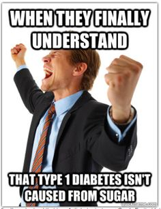 You don't get Type 1 diabetes from too much sugar and Type 1 diabetics are not allergic to sugar.