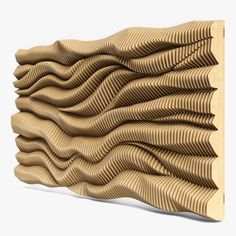 Parametric Architecture, Parametric Design, 3d Wall Art, Wooden Wall Art, Wall Art Designs, Wall Design, Zaha Hadid, Textured Wall Panels, Cnc Cutting Design