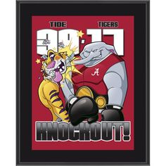Alabama Crimson Tide Win Over LSU Tigers 10.5'' x 13'' Sublimated Matchup Plaque