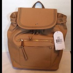 "Jessica Simpson Adelaide Backpack Camel FLASH SALE Jessica Simpson Adelaide Backpack. Camel/Gold-Tone Hardware. 1 inside zipper pocket, 2 inside slip pockets, 1 outside slip pocket, 1 outside zipper pocket. measurements 12"" x 11"" x 6"". NWT                                                                     No Trades No Holds  Jessica Simpson Bags Backpacks"