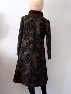 SALE  1960s Princess Coat with Fur Collar / by NESTdesignstudio, $100.80