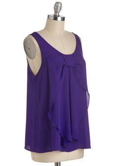 Hello, Bow! Top in Regency Purple, #ModCloth