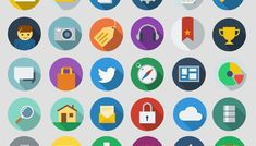 Free download: Modern long shadow icons