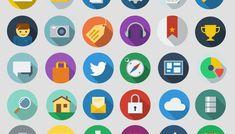 Free download: Modern long shadow icons | Webdesigner Depot