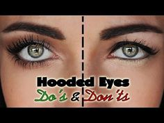 Hooded eyes DO's and DON'Ts - YouTube