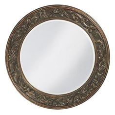 Brown Wall Mirror found it at wayfair - caribe wall mirror $187 | furniture