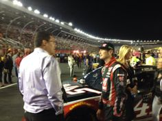from Chris Clark WCNC I see Carolina Panthers all over at Charlotte Motor Speedway for the NASCAR All Star Race