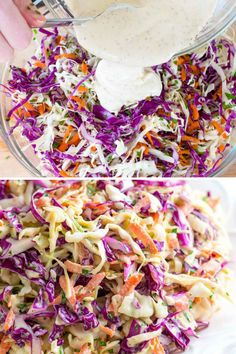 With a generous amount of acidity from apple cider vinegar and Dijon mustard, our favorite coleslaw is anything but dull. Instead, our coleslaw recipe is packed with fresh, lively flavors Read Veggie Recipes, Great Recipes, Vegetarian Recipes, Cooking Recipes, Dinner Recipes, Healthy Recipes, Restaurant Recipes, Crudite, Healthy Meats