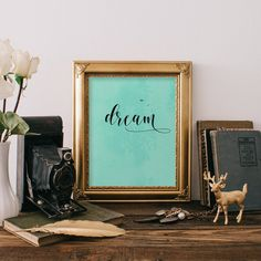 Quote art print, Dream wall art print, Nursery decor, Printable wall art, Home decor, Inspirational print quote, Baby nursery art BD-671