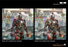 Smokin' IRON MAN 2 Suitcase Armor Concept Art by Philippe Gaulier « Film Sketchr