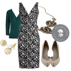 """Sharp Showcase Dress"" by modcloth on Polyvore"