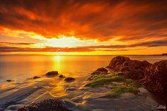 """500px / Photo """"Orange sunset """" by Gunnlaugur Valsson"""