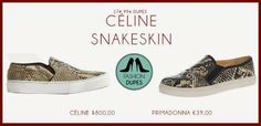 http://www.fashiondupes.com/2014/05/17-99-dupes-celine-and-givenchy-slip-on.html #givenchy #celine #slipon #slippers #shoes #dupes #trend #summer #2014 #spring #lowcost #cheaper #dupe #fashiondupes