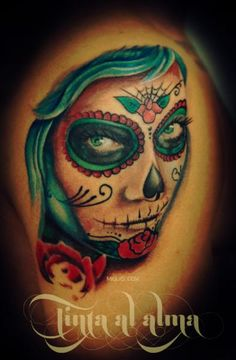 mexikanische totenkopf tattoo joy studio design gallery. Black Bedroom Furniture Sets. Home Design Ideas