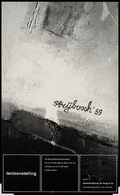 Pieter Brattinga, kantine steendrukkerij de Jong & Co Hilversum van 28 november tot 31 december strijbosch '59, 1959
