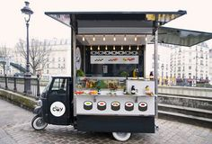 Food truck branding about sushis