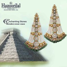 """""""#ChichenItza It's tough not to fall in love and marvel at the legend behind these pyramids . Our jewel encrusted creations are a fitting tribute to this…"""""""