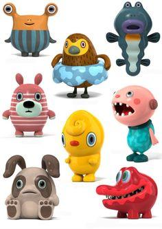 Hiroshi Yoshii japan toys sculptures characters