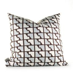 faux Houndstooth Pillow