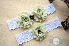 Camo Garter, Blue Lace Garter, Bridal Garter, Bridal Garter Set, Bridal Garters, Bridal Lace Garter, Green Bridal Garter, Blue Bridal Garter by BespokeGarters on Etsy