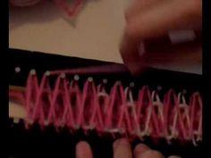 Cachecol  no tear de pregos - 03 -  Por Aninha Carolis